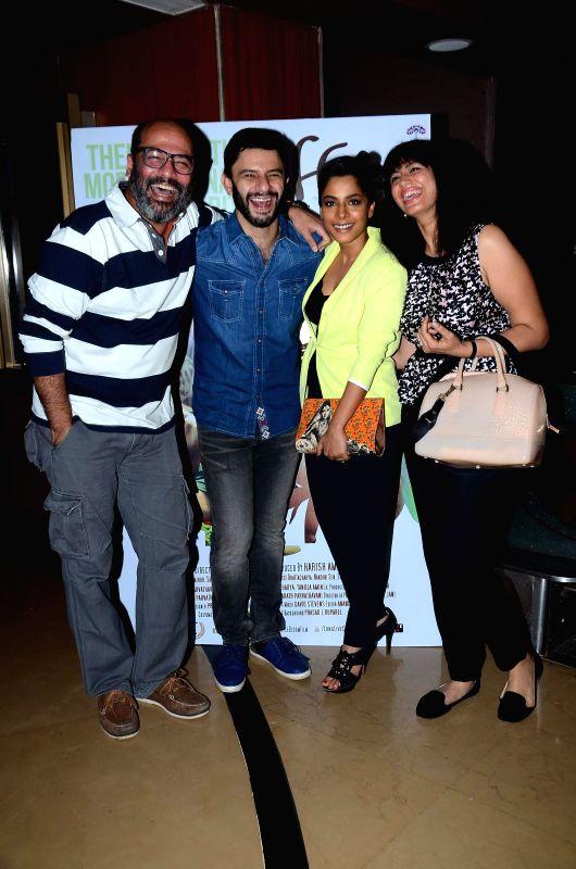 Actors Arjun Mathur, Sugandha Garg, Ishwari Bose Bhattacharya and Mohan Kapoor during screening film Coffee Bloom in Mumbai on March 5, 2015. - Arjun Mathur, Sugandha Garg, Ishwari Bose Bhattacharya and Mohan Kapoor