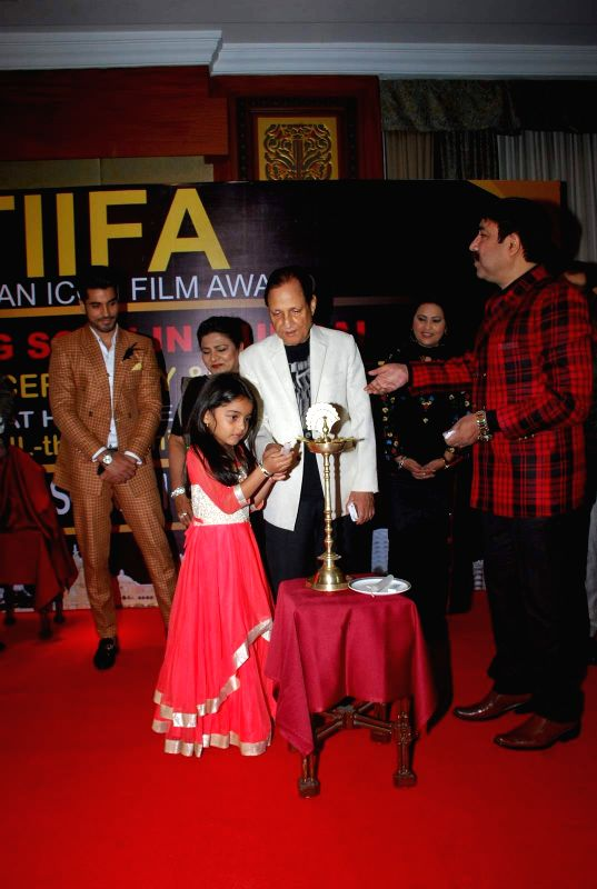 Actors Gautam Gulati and Shahnaz Rizwan with filmmaker Saawan Kumar during the Announcement of annual award show TIIFA in Mumbai on April 18, 2015. - Gautam Gulati, Shahnaz Rizwan and Saawan Kumar