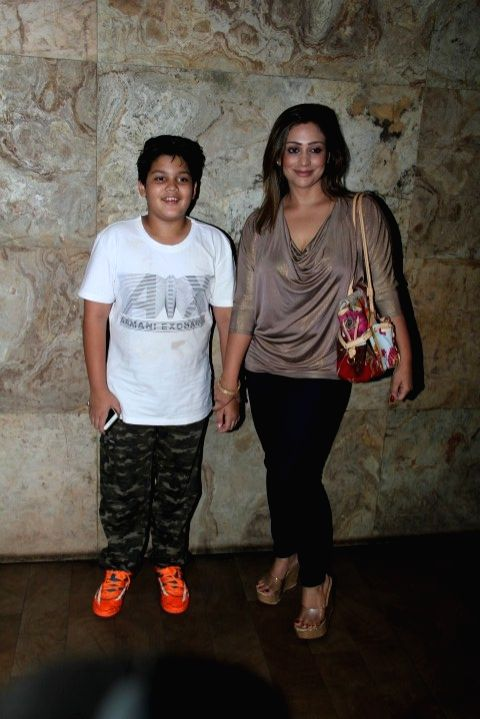 Actors Jimmy Shergill's wife Priyanka Puri during the screening of film Tanu Weds Manu Returns in Mumbai 20th May 2015 - Jimmy Shergil