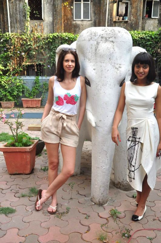 Actors Kalki Koechlin and Sayani Gupta during a Special screening of film Margarita With A Straw in Mumbai on April 19, 2015. - Kalki Koechlin and Sayani Gupta