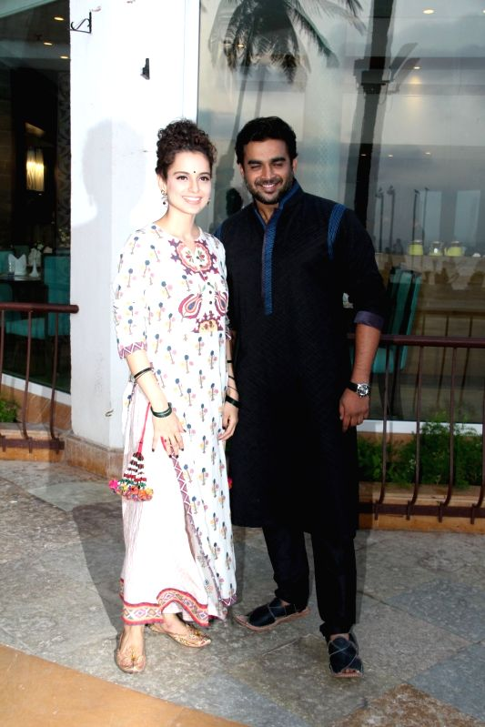 Actors Kangana Ranaut and R Madhavan during a promotion for their upcoming movie `Tanu Weds Manu Returns` in Mumbai on, April 29, 2015. - Kangana Ranaut