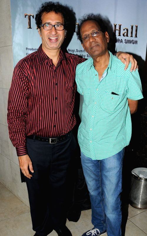 Actors Kurush Deboo and Virendra Saxena during the announcement of new Film, The Cinema Hall, in Mumbai, on April 17, 2015. - Kurush Deboo and Virendra Saxena