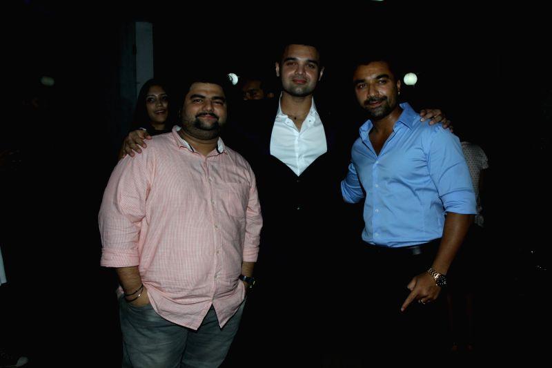 Actors Mahaakshay Chakraborty, Ajaz Khan and Kevin Dave during the trailer launch of film Ishqedarriyaan in Mumbai on 7th April 2015. - Mahaakshay Chakraborty, Ajaz Khan and Kevin Dave