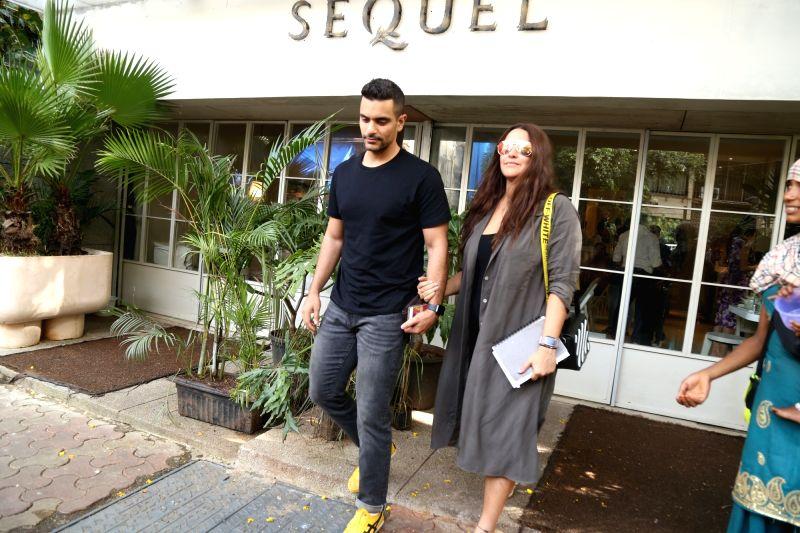 Mumbai: Actors Neha Dhupia and Angad Bedi seen at bandra in Mumbai on Aug 17, 2019.