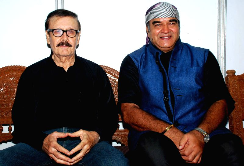 Actors Parikshet Sahni and Surendra Pal during the Rajasthan Day celebration in Mumbai on March 30, 2015. - Parikshet Sahni and Surendra Pal