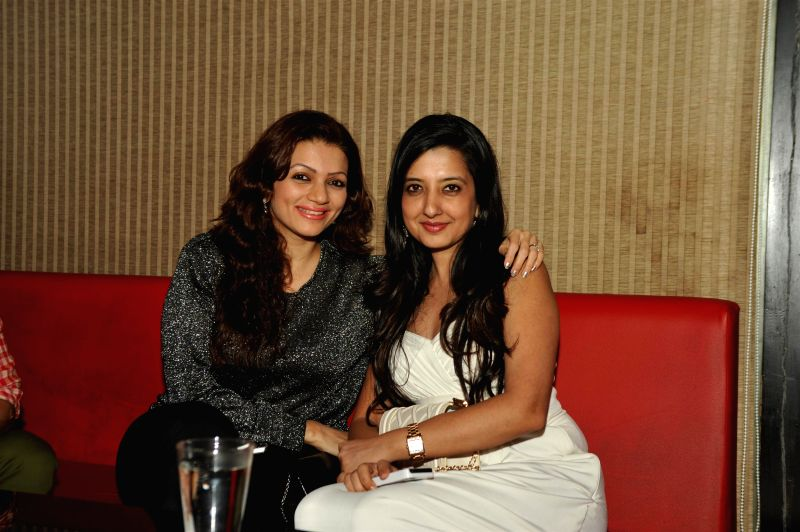 Actors Prachi Shah and Fashion designer Amy Billimoria during Choreographer Sandip Soparkar Christmas party and National Achievement Award celebration in Mumbai, on Dec. 22, 2014. - Prachi Shah and Fashion