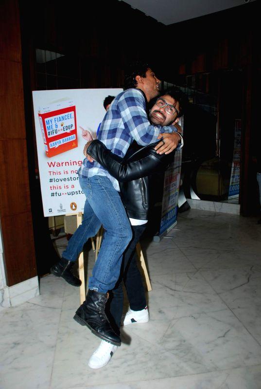 Actors Pratik Babbar and Aarya Babbar during Aarya Babbar's book launch in Mumbai on Feb. 4, 2015. - Pratik Babbar