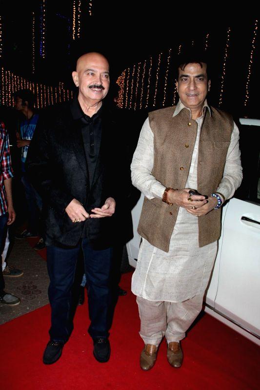 Actors Rakesh Roshan and Jeetendra during the Baisakhi celebration in Mumbai on April 14, 2015. - Rakesh Roshan and Jeetendra