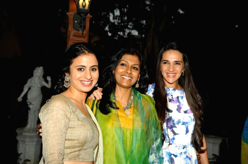 Actors Rasika Duggal, Nandita Das and Tara Sharma during the opening night of CinePlay Festival Act in Mumbai on Feb 27, 2015. - Rasika Duggal, Nandita Das and Tara Sharma