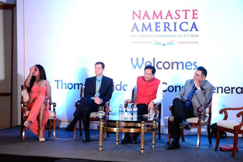 Actors Richa Chadha and Boman Irani during Namaste America event to invite new US Consul General in Taj Lands End, Mumbai on Nov. 24, 2014. - Richa Chadha