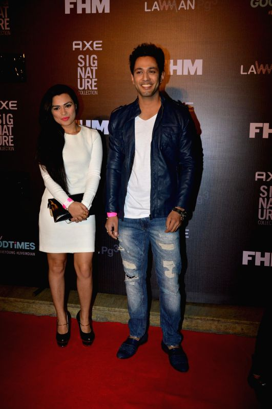 Actors Sahil Anand and Renee Dhyani during the Trailer Bachelor of the Year Awards 2014 in Mumbai, on Dec. 22, 2014. - Sahil Anand and Renee Dhyani