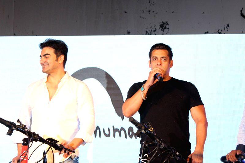Salman launches Being Human electric bicycles - Salman Khan and Arbaaz Khan