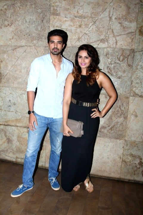 Actors Saqib Saleem and Huma Qureshi during the screening of film Tanu Weds Manu Returns in Mumbai 20th May 2015 - Saqib Saleem and Huma Qureshi