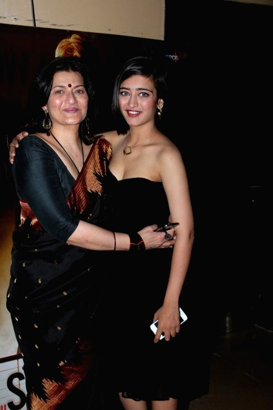 Actors Sarika Haasan and Akshara Haasan during the screening of film Shamitabh in Mumbai, on Feb 5, 2015. - Sarika Haasan and Akshara Haasan