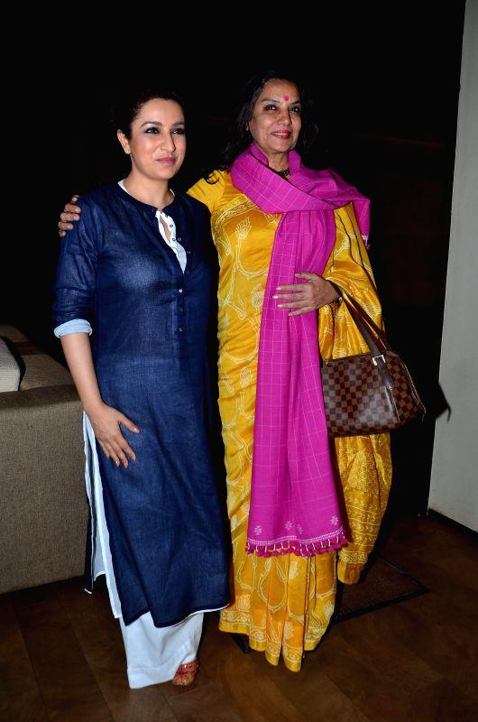 Actors Shabana Azmi and Tisca Chopra during the screening of film Rahasya, in Mumbai on Jan. 30, 2015. - Shabana Azmi and Tisca Chopra