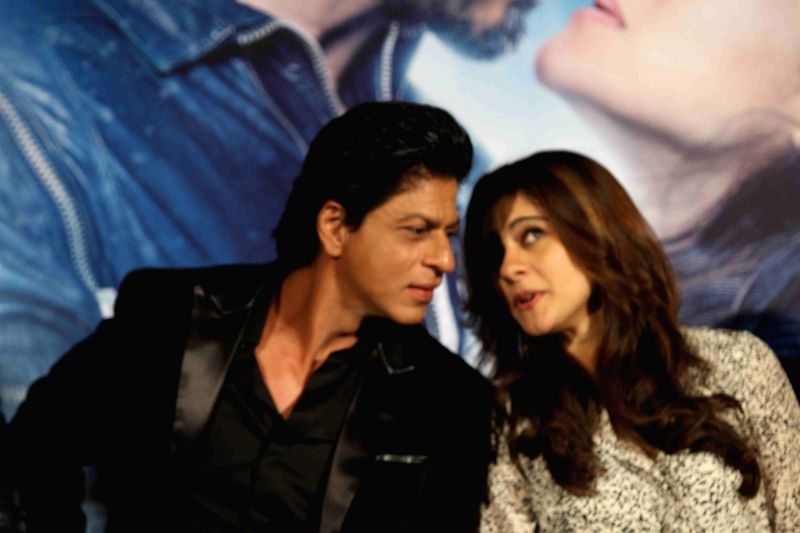 :Mumbai: Actors Shah Rukh Khan and Kajol during the song launch of film Dilwale in Mumbai on Nov 18, 2015. (Photo: IANS). - Shah Rukh Khan