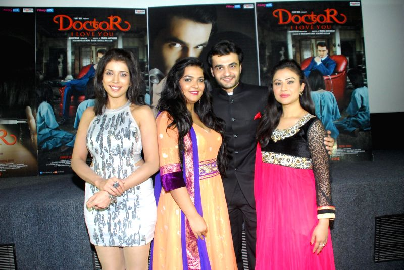Actors Shital Shah, Naini Dixit, Shiraz Hussain and Shalini Chandran during the music launch of film Doctor I love You in Mumbai, on 5th Jan 2015 - Shital Shah, Naini Dixit, Shiraz Hussain and Shalini Chandran