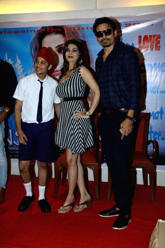 Actors Sudhanshu Agrawal, Shrishti Sharma and Shawar Ali during the promotion of film Monsoon in Mumbai on 18th Feb, 2015. - Sudhanshu Agrawal, Shrishti Sharma and Shawar Ali