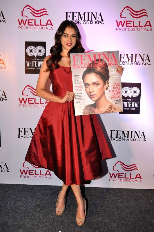 Actress Aditi Rao Hydari during the cover launch of Femina Salon and Spa magazine in Mumbai on Jan 21, 2015.