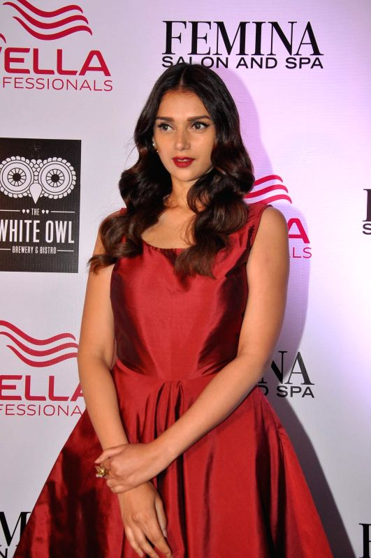 Actress Aditi Rao Hydari during the cover launch of Femina Salon and Spa magazine in Mumbai on Jan 21, 2015.
