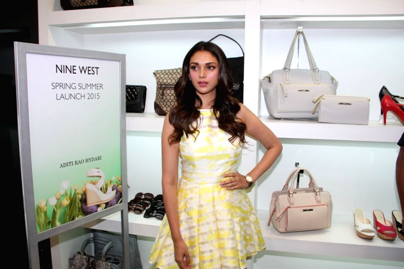 Actress Aditi Rao Hydari during the launch of Spring Summer Collection by Nine West, in Mumbai on 7th April 2015.