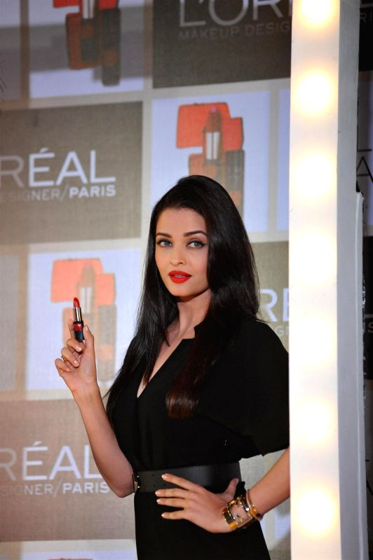 Actress Aishwarya Rai Bachchan during the launch of Moist Matte Collection Pure Reds lipsticks by L'Oreal Paris in Mumbai on Jan 7, 2015.