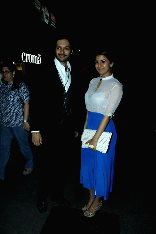 Actress Ali Fazal and Nimrat Kaur during the premier show of the film Fast & Furious  in Mumbai on April 1, 2015. - Ali Fazal and Nimrat Kaur