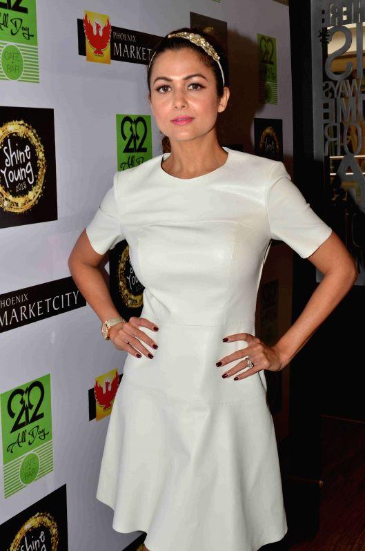 Actress Amrita Arora during the launch of Shine Young 2015 in Mumbai on 4th May 2015 - Amrita Arora