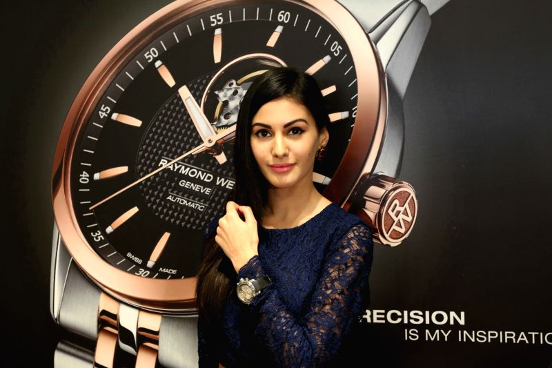 Actress Amyra Dastur at Roaymnd Weil store in Mumbai on April 21, 2015.