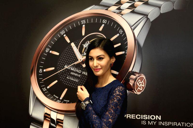 Actress Amyra Dastur at Roaymnd Weil store in Mumbai on April 21, 2015.