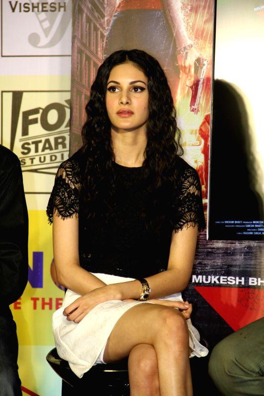 Actress Amyra Dastur during the promotion of film Mr X in Mumbai on April 6, 2015. - Amyra Dastur