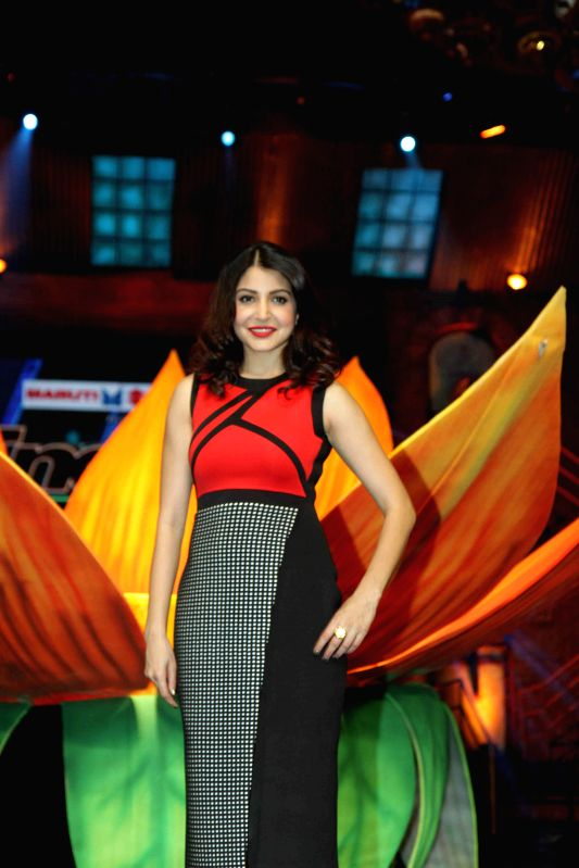 Actress Anushka Sharma during the promotion of film Bombay Velvet on the Set`s of Indias Got Talent in Mumbai, on April 28, 2015. - Anushka Sharma