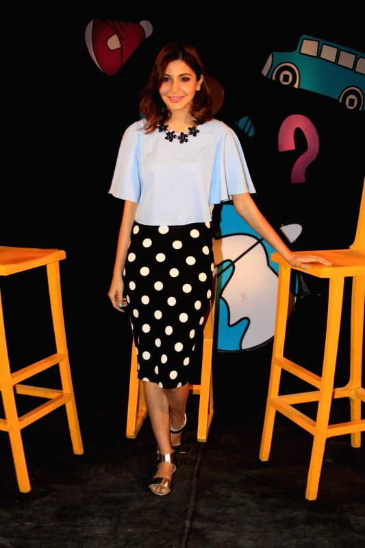 Actress Anushka Sharma shoots for Disney channel chat show Captain Tiao in Mumbai on 30th November, 2014