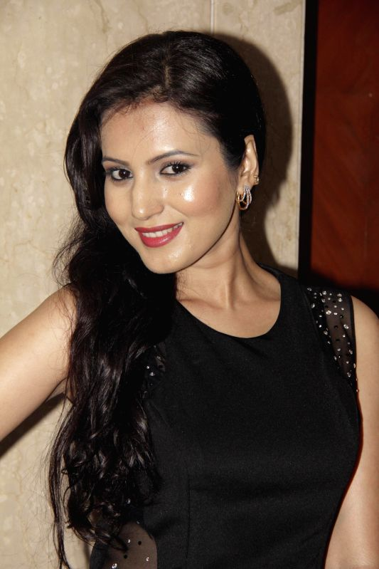Actress Anusmriti Sarkar snapped posing at a Page 3 party in Mumbai on March 4, 2015.