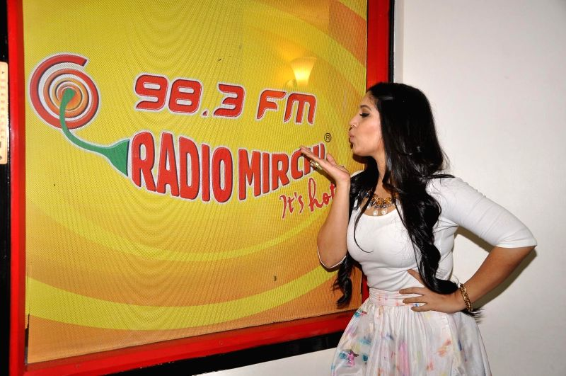 Actress Bhumi Pednekar during promotions of Dum Laga Ke Haisha at Radio Mirchi studio in Mumbai on March 13, 2015. - Bhumi Pednekar