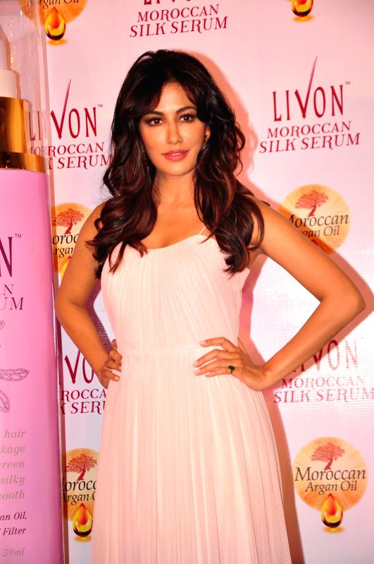 Actress Chitrangada Singh during the launch of Livon Moroccan Silk Serum in Mumbai on Dec 2, 2014.