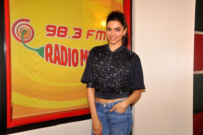 Actress Deepika Padukone at Radio Mirchi for promotion of Piku at Red FM studio, in Mumbai, on May 8, 2015. - Deepika Padukone