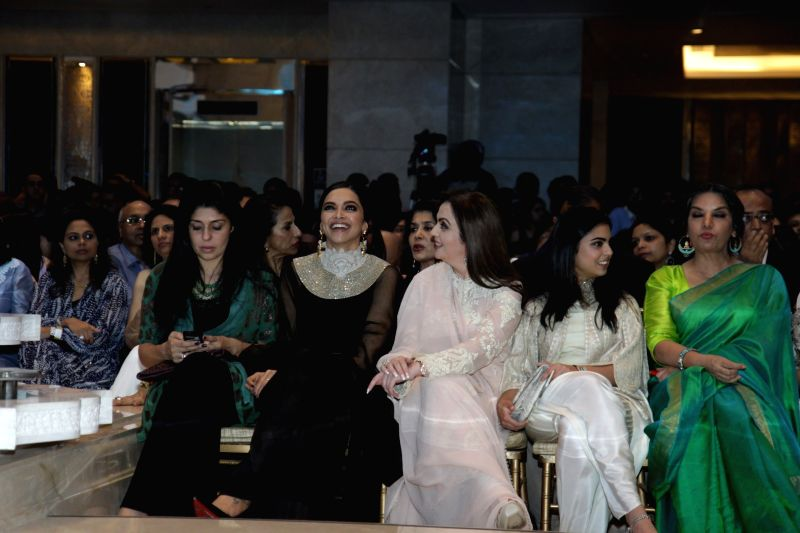 Actress Deepika Padukone with Nita Ambani, founder and chairperson ...