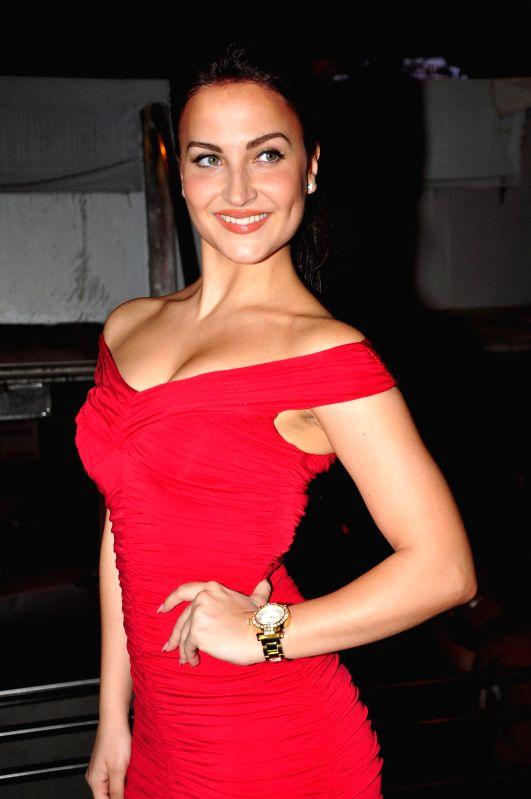 Actress Eli Avram during the BeBe store launch in Mumbai on Dec 2, 2014.