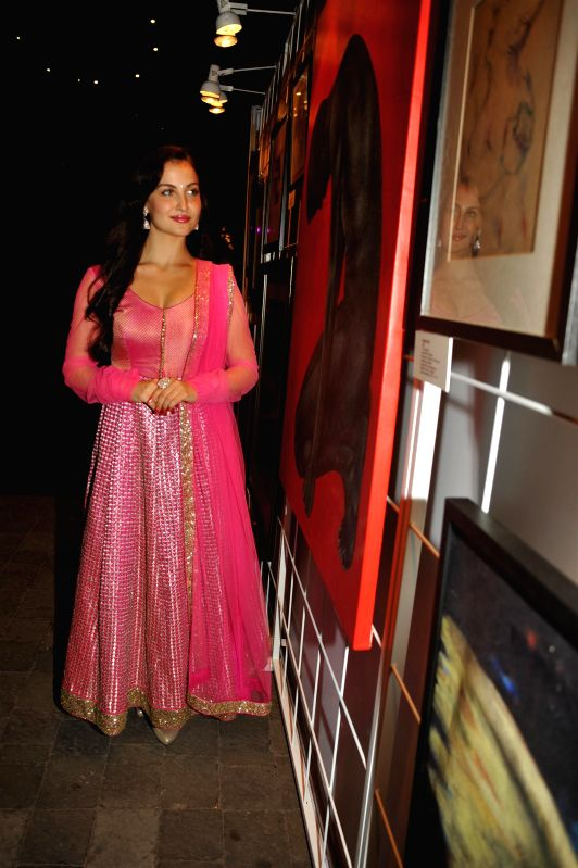 Actress Elli Avram during the Cuddles Foundation 3rd Annual Charity Fund raiser event in Mumbai on 7th February 2015 - Elli Avram