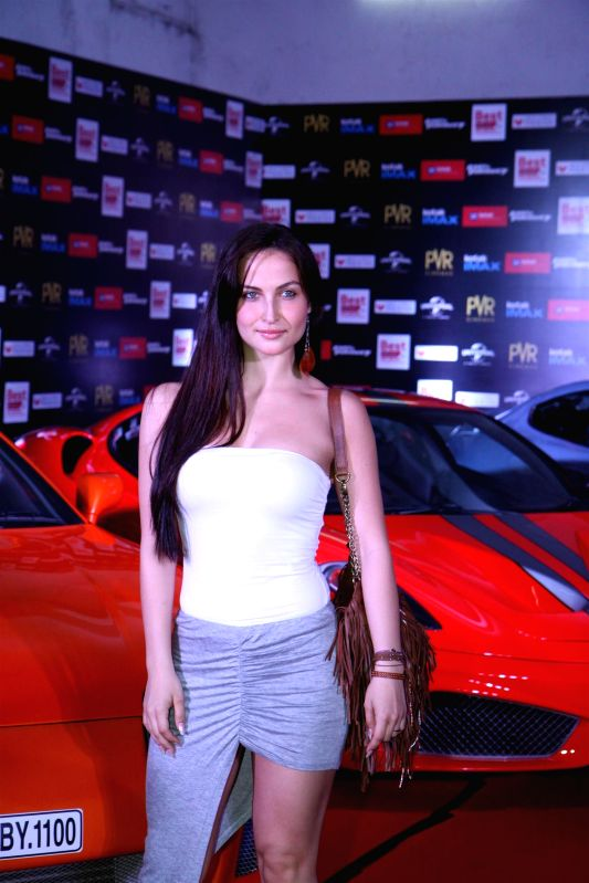 Actress Elli Avram during the premier show of the film Fast & Furious  in Mumbai on April 1, 2015. - Elli Avram