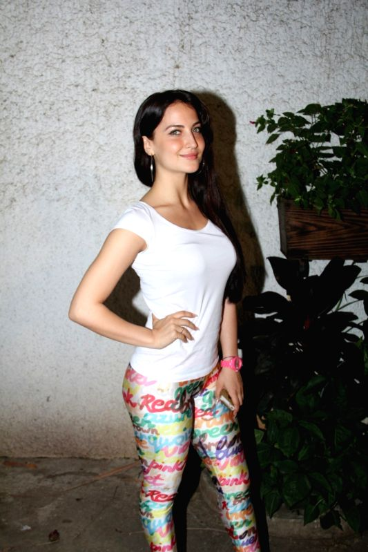 Actress Elli Avram during the special screening of film Ek Paheli Leela in Mumbai on April 9, 2015. - Elli Avram