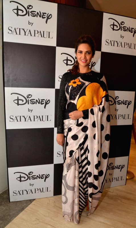 Actress Esha Gupta at the launch of 'Disney Mono Pop by Satya Paul' - a stylish retro-modern collection in Mumbai on Dec 3, 2014.