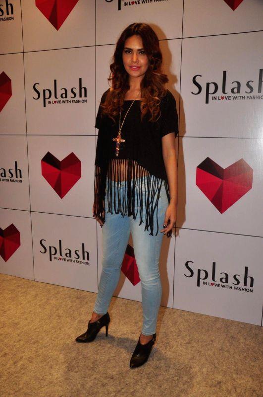 Actress Esha Gupta during the launch of 2nd Splash store in Mumbai on 7th Jan 2015
