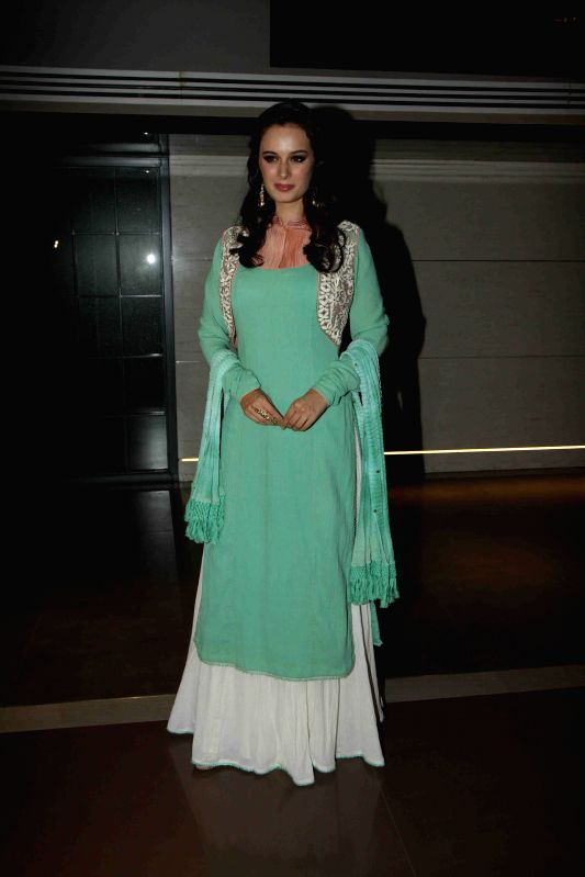 Actress Evelyn Sharma during the music launch of film Ishqedarriyaan in Mumbai on April 24, 2015. - Evelyn Sharma