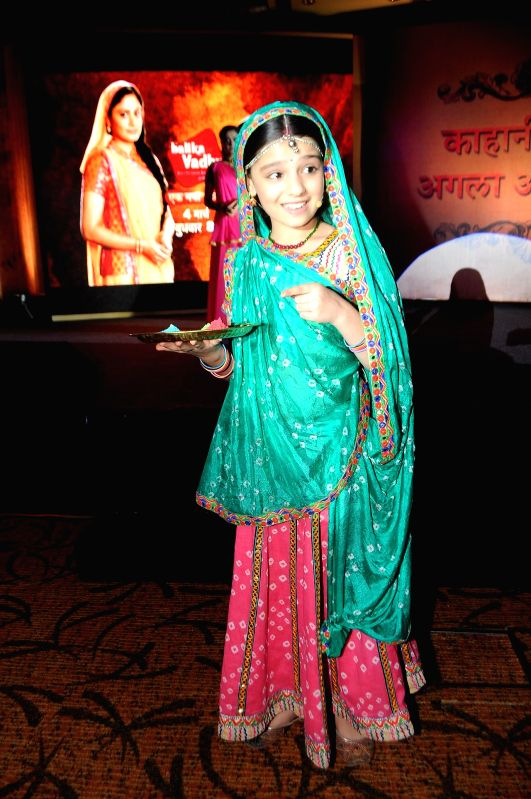Actress Gracy Goswami during the press conference to announce the 11year leap in Colors TV show Balika Vadhu in Mumbai on March 3, 2015. - Gracy Goswami