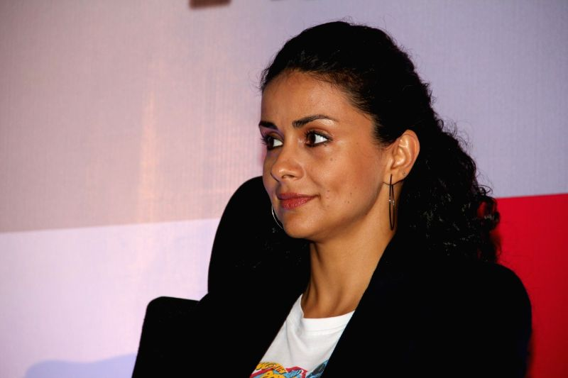 Actress Gul Panag during a press conference for her show 'Off road with Gul Panag' in Mumbai on March 25, 2015.
