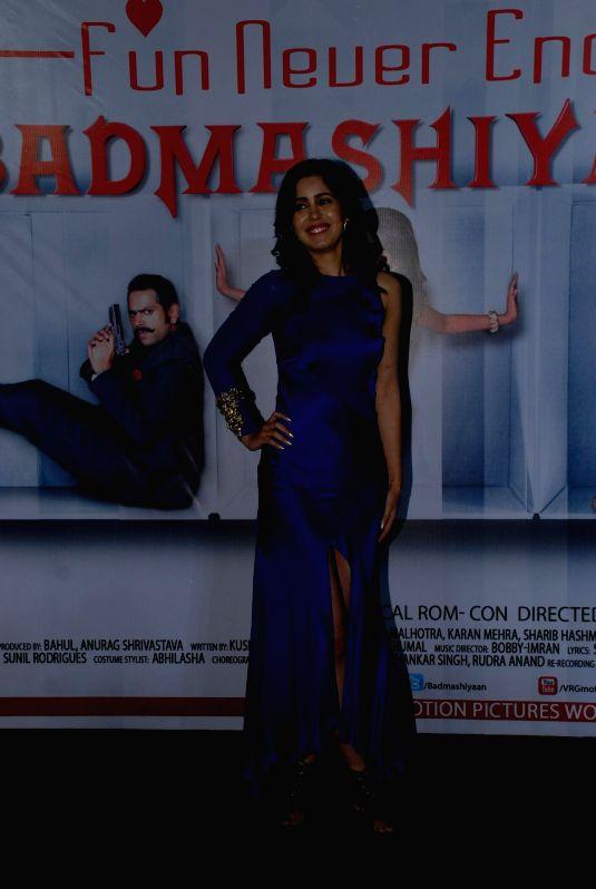 Actress Gunjan Malhotra during the press conference of film Badmashiyan in Mumbai on 28th January 2015. - Gunjan Malhotra