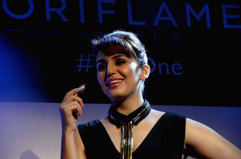 Actress Huma Qureshi during a programme in Mumbai, on Feb 26, 2015.