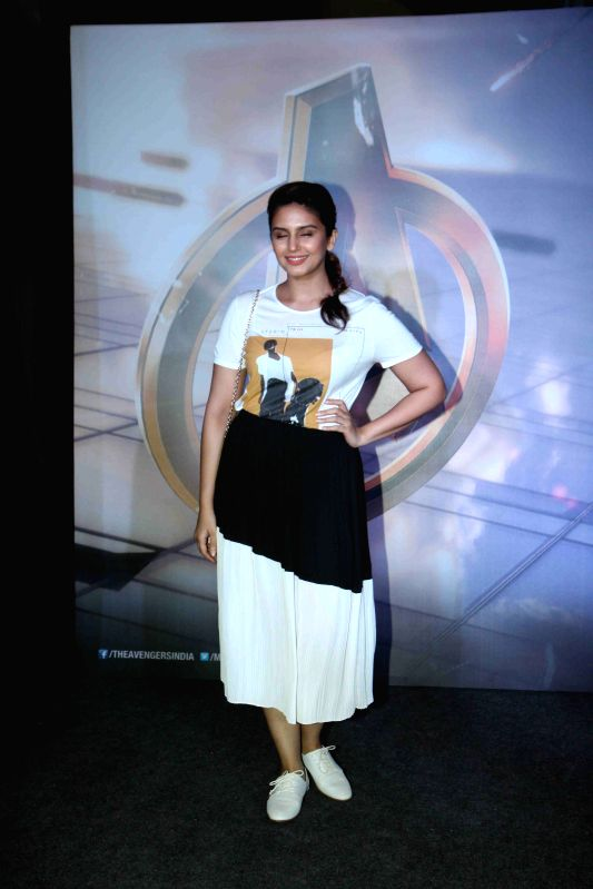 Actress Huma Qureshi during the special screening of Hollywood film Avengers: Age of Ultron in Mumbai, on April 22, 2015. - Huma Qureshi